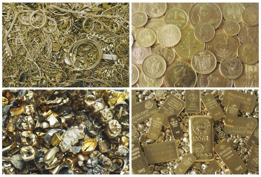 Golschmuck verkaufen, Goldmünzen verkaufen und Zahngold verkaufen